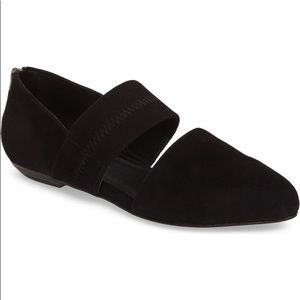 Eileen Fisher Shoes - Eileen Fisher Hall Pointy Toe Flat Black Suede 9.5